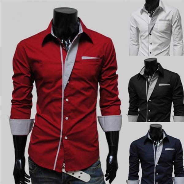 men shirt new arrived mens work shirts brand long sleeve soild dress male casual shi - 네이버쇼핑