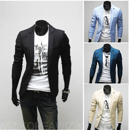 han fashion edition men casual suit small pure color cultivate one s morality - 네이버쇼핑