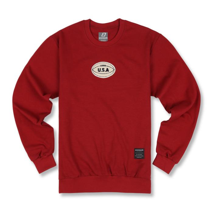 세븐틴스 seventeenth 세븐틴스 usa patch sweatshirts wine - 네이버쇼핑