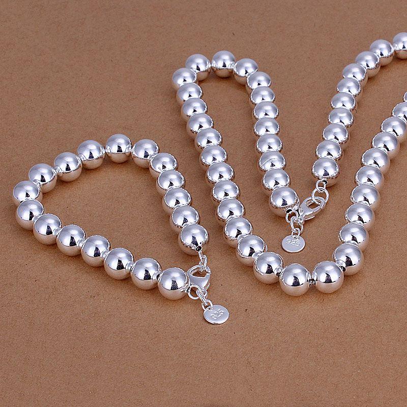 wholesale plated jewelry sets fashion set hollow ball necklace amp bracelet CS151 - 네이버쇼핑