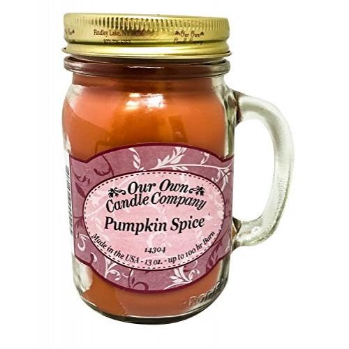 아워오운캔들컴퍼니 Pumpkin Spice Scented 13 Ounce Mason Jar Candle By Our Own Candle Company - 네이버쇼핑
