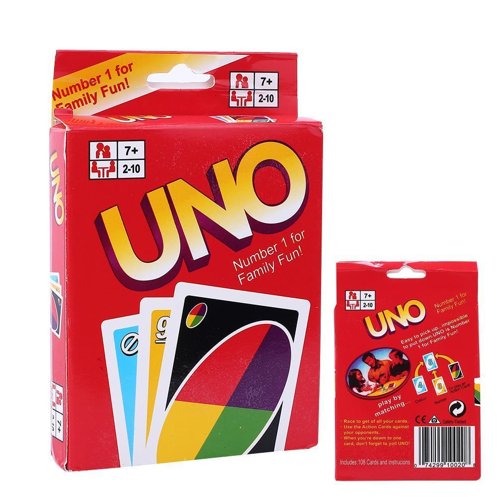 Standard Fun 108 UNO Playing Cards Game For Family Friend Travel Instruction New - 네이버쇼핑
