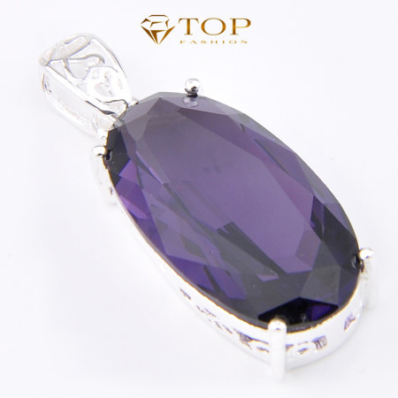 Top Jewelry Romantic Purple Amethyst Pendants Silver Plated Best Mother s Day Gift P0209 - 네이버쇼핑
