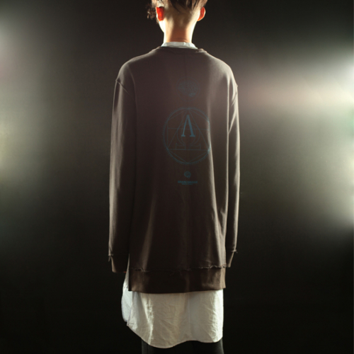 braindamage 브레인데미지 alpha long sweatshirts charcoal - 네이버쇼핑