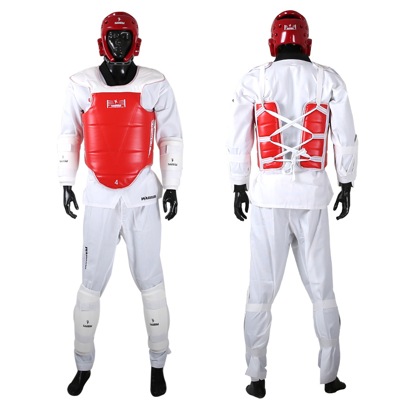 Taekwondo Protector Thickening WTF Approved 5pcs 1bag Chest Helmet Shinguards Armguards Groin Protec - 네이버쇼핑