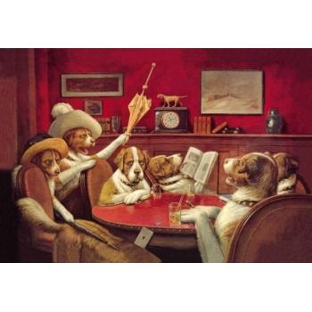C.M Coolidge의 Poker Dogs This Game Is Over 1903 유머 인테리어 그림 액자 - 네이버쇼핑