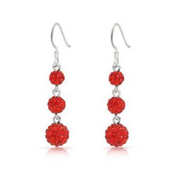 Bling Jewelry Red Crystal Balls Sterling Silver Dangle Earrings 휴넷몰 - 네이버쇼핑