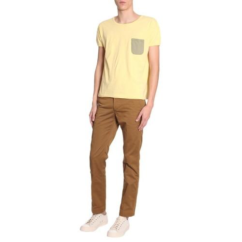 비즈빔 Visvim T-shirt With Contrast 0118105010027YELLOW