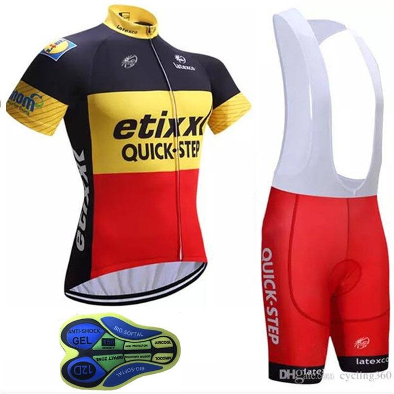 2019 PRO Team Cycling jersey QUICK STEP bike clothing Ropa Ciclismo men wear Maillot Bib shorts set - 네이버쇼핑