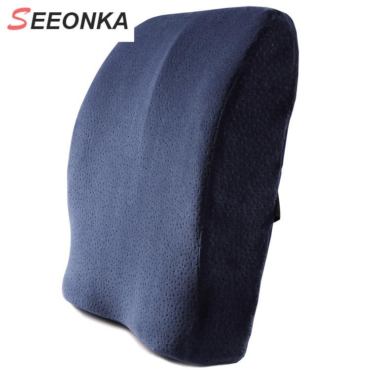 Memory Foam Lumbar Support Back Cushion Firm Pillow for Computer Office Chair Car Seat Recliner Lowe - 네이버쇼핑