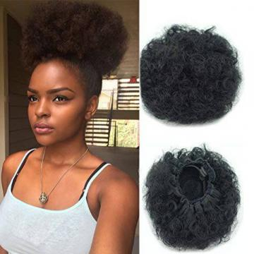Xiaoliangyiyz Ponytail Hair Afro Kinky Curly African American Synthetic Hair Bun Extensions 8432939 - 네이버쇼핑