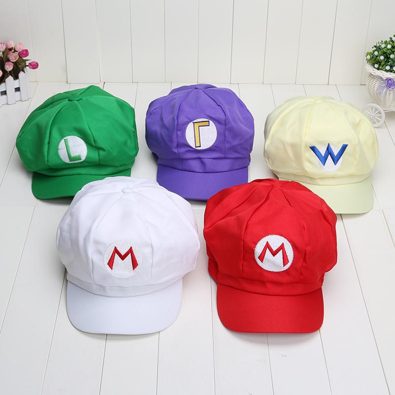 5 colors super mario cap hat cosplay figure toys mario luigi Adjustable cosplay hat cap - 네이버쇼핑