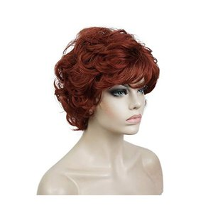 Lydell Womens Short Curly Wavy Wig Synthetic Hair - 네이버쇼핑