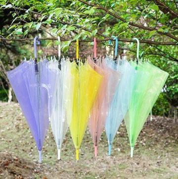 Favor 쇼핑 Novo favor de casamento colorido guarda-chuva de PVC transparente punho longo chuva guarda-sol ver através de umbigo - 네이버 쇼핑
