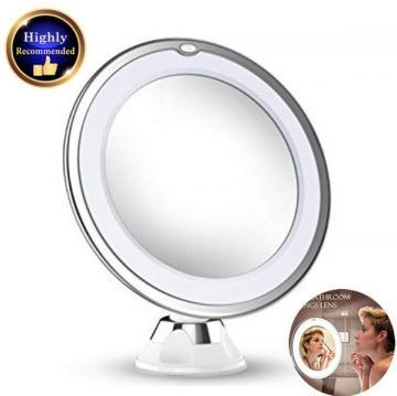바잉 10X Magnifying Makeup Vanity Mirror With Lights LED Portable Hand Cosmetic Magnification Li - 네이버쇼핑