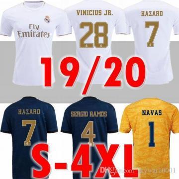 N톤몰2 new 2019 2020 real Madrid home soccer jerseys 19 20 HAZARD Goalkeeper NAVAS camiseta de - 네이버쇼핑